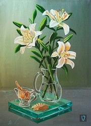 Bodegon con lilies. Valian