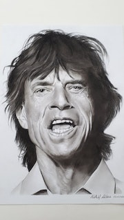 Sir Mick Jagger Rolling Stones. Abdel Lakhdouri