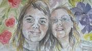 Valérie et Lilou, mère et fille. Anne-Marie Vandorpe Deligne