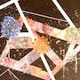 Peinture abstraite acrylique décorative Isarma. Florence Féraud-Aiglin