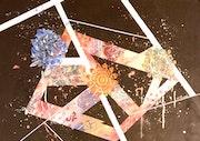 Peinture abstraite acrylique décorative Isarma.