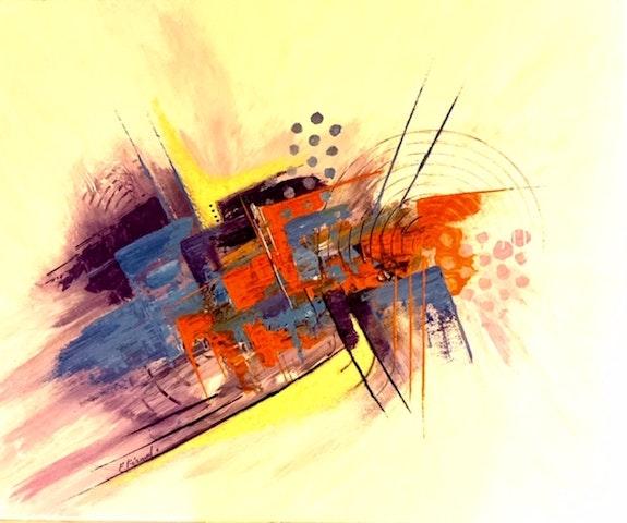 Peinture abstraite acrylique décorative Hodaï. Florence Féraud-Aiglin Florence Féraud-Aiglin