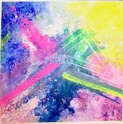 Peinture abstraite acrylique décorative Nydaï.