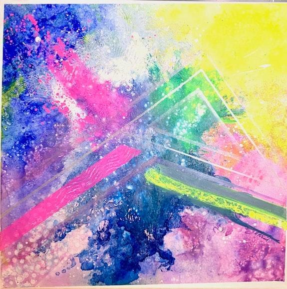 Peinture abstraite acrylique décorative Nydaï. Florence Féraud-Aiglin Florence Féraud-Aiglin