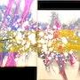 Peinture abstraite acrylique décorative Haïky. Florence Féraud-Aiglin