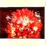 Peinture abstraite acrylique décorative Sobaïna. Florence Féraud-Aiglin