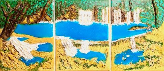 Peinture abstraite acrylique & résine décorative Osynka. Florence Féraud-Aiglin Florence Féraud-Aiglin