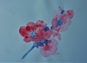Aquarelle une branche de fleurs. Yokozaza