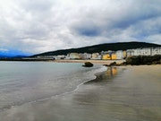 Playa en Burela, Lugo.