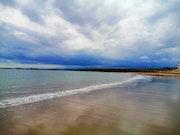 Playa en Burela Lugo.