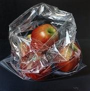Bolsa con manzanas rojas. Miguel Angel Nuñez