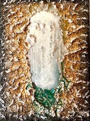 Peinture abstraite acrylique & résine décorative Malimba.