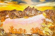 Peinture abstraite acrylique & résine décorative Balambra.