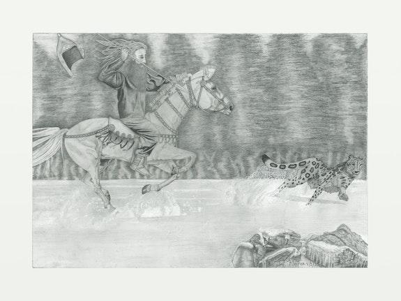 Snow Leopard Season in Scythia. Ted Montrose Enlightment Art Studio