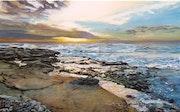 Coucher de soleil sur la côte bleue. Johan Martel