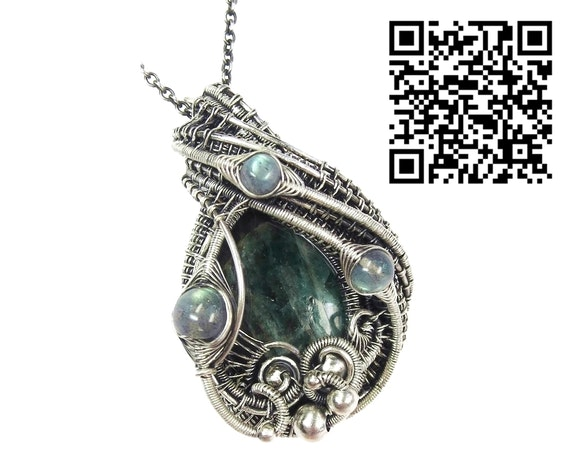 Seraphinite Pendant with Labradorite. Heather Jordan Heather Jordan Jewelry