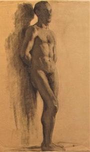 Pierre (1878-1944) [ou Margueritte]. Boissart : académie d'homme. Vers 1900.. Historien d'art, Archéologue; Chercheur Free-L.