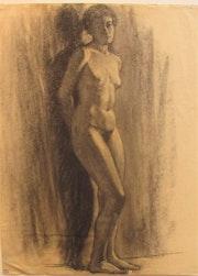 Pierre (1878-1944) [ou Margueritte]. Boissart : académie de femme. Vers 1900.. Historien d'art, Archéologue; Chercheur Free-L.