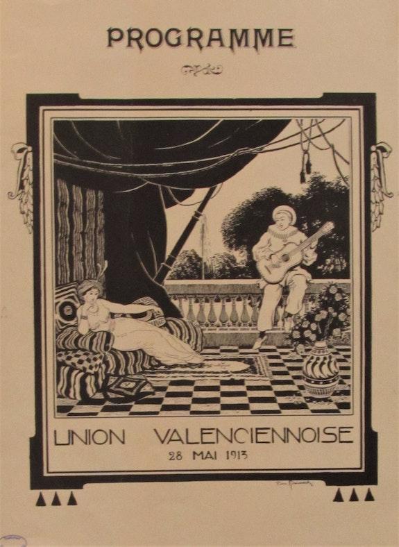 Pierre. Boissart (1878-1944) : Programme de l'Union Valenciennoise. Concert…. Pierre. Boissart (1878-1944) : Programme; 1913. Historien d'art, Archéologue; Chercheur Free-L.