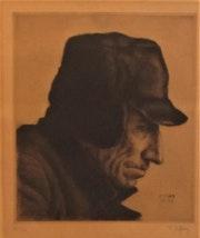 François de Hérain (1877-1962) : Profil d'un Travailleur (marinier du Nord ? ). Historien d'art, Archéologue; Chercheur Free-L.