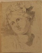 .J.j: portrait d'un jeune «homme vert» ou d'un «Bacchant». XVIIIème s.. Historien d'art, Archéologue; Chercheur Free-L.