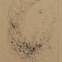 Michel. Ciry (1919-2018) : profil d'une jeune fille en fleurs. 1956.. Historien d'art, Archéologue; Chercheur Free-L.