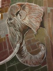 Éléphant d'Afrique. Scali'arts