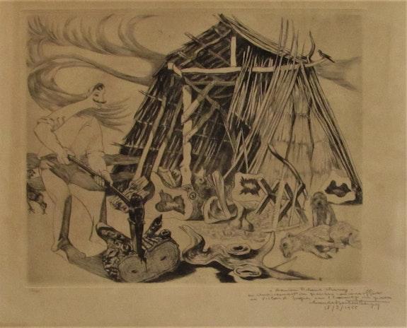 Claude. Hertenberger (1912-2002) : Charbonnier & sa cabane, vers 1955. Claude Hertenberger (1912-2002) : Charbonnier & Sa Cabane, Vers 1955 Historien d'art, Archéologue; Chercheur Free-L.