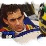 Hommage a Ayrton Senna. P Fort