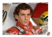Dessin en hommage à Ayrton Senna.