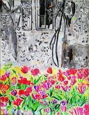 Les tulipes de Giverny. Allard