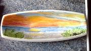Petit plat peinture céramique. Florence Féraud-Aiglin
