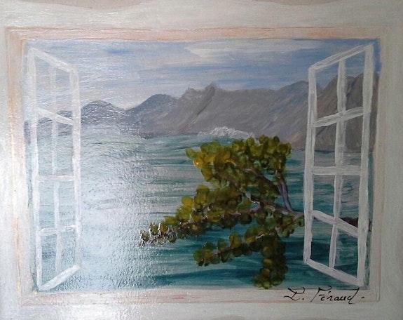 Dessous de plat tableau peinture sur céramique. Florence Féraud-Aiglin Florence Féraud-Aiglin