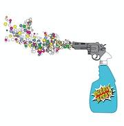 Bubble spray.