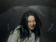Billie Eilish oil painting on canvas. Enoc