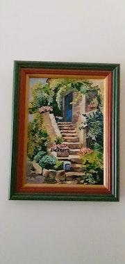 Le vieil escalier fleuri.