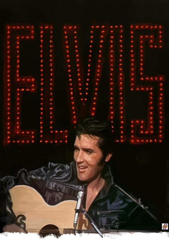 Dessin Hommage à Elvis Presley. P. Fort P Fort