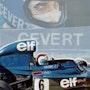 Dessin Francois Cevert pilote de Formule 1. P Fort