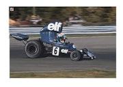 Dessin Francois Cevert pilote de Formule 1.