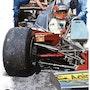 Dessin hommage Gilles Villeneuve Formule 1. P Fort