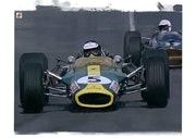 Dessin Jim Clark pilote de course. P Fort