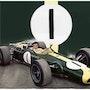 Dessin Jim Clark pilote de course.