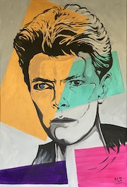 Block Bowie - acrylics. Mr. B.