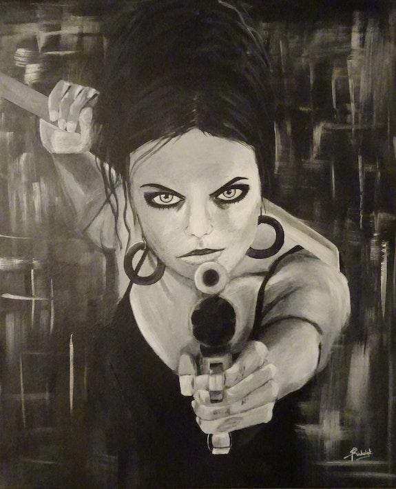 Fille au revolver. Sandrine Richalet Sandrine Richalet