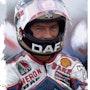 Dessin du pilote moto Barry Sheene. P Fort