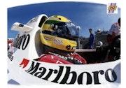 Dessin du pilote f1 Ayrton Senna.