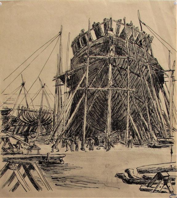 Albert. Decaris (1901-1988) : Chantiers navals, ou : «L'Arche de Noé» ?. Albert. Decaris (1901-1988) : Chantiers Navals Ou : «l'arche De Noé» ? Historien d'art, Archéologue; Chercheur Free-L.