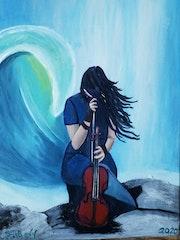 Mit der Geige im Wind..