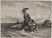J. H. Kernot, 1802-1858, d'après E. Le Poittevin, 1806-1858 : Le Retour du pêcheur.