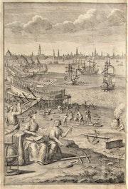 Antoine Hérisset, 1685-1769, d'après Nicolas ou Robert Bonnart : Chantier naval.